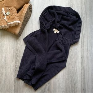 Michael Kors Oversized Knit Slouchy Cardigan Vest
